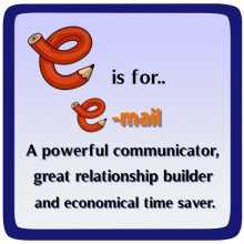 E is for email